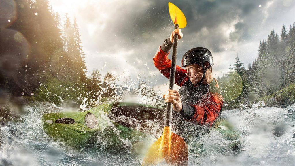 paddling river